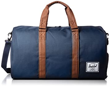 fba1851c2e Image Unavailable. Herschel Navy-Tan Synthetic Leather Novel - 42.5 Litre Duffel  Bag ...