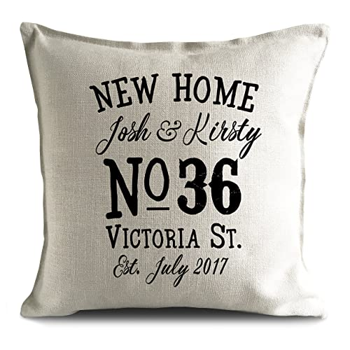 New Home House Moving House Warming Personalised Cushion Cover Gift Gorgeous Personalised Pillow Covers
