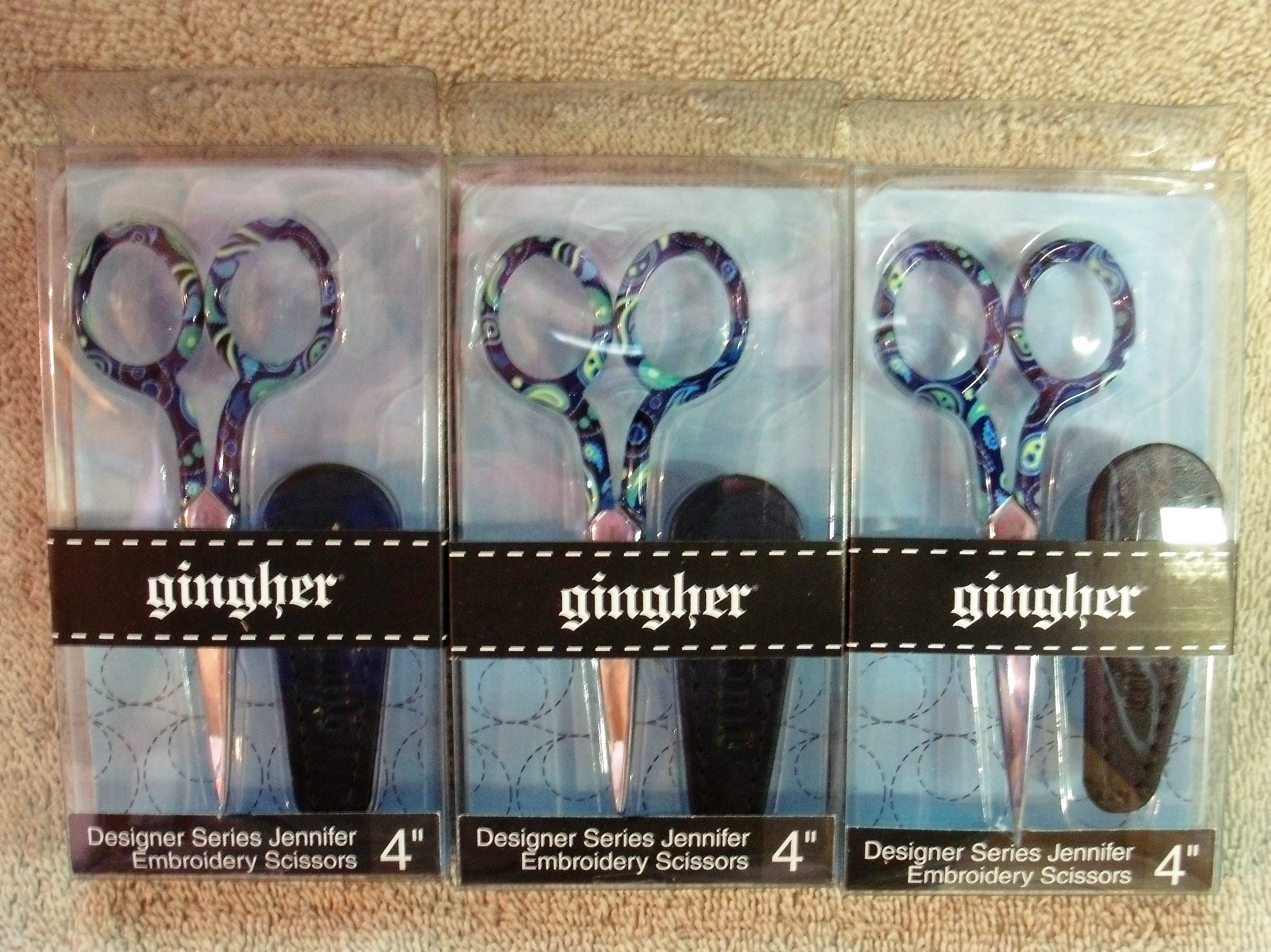 Lot Of 3 Gingher Designer Series Jennifer (3 Pack)
