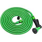 Tubo da giardino flessibile di 2a GENERAZIONE in Kit tutto-compreso con doccetta e attacco per tutti i rubinetti | Tubo per l'acqua da irrigazione per innaffiare con pistola estensibile in tre lunghezze (15m, 22.5m o 30m) | Jardinax