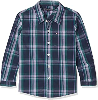 Tommy Hilfiger Jungen Hemd Multicolor Oxford Check Shirt L S  Amazon ... dfbc8a8660