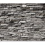 GREAT ART Fototapete – 3D Effekt Black Stonewall – Wandbild ...