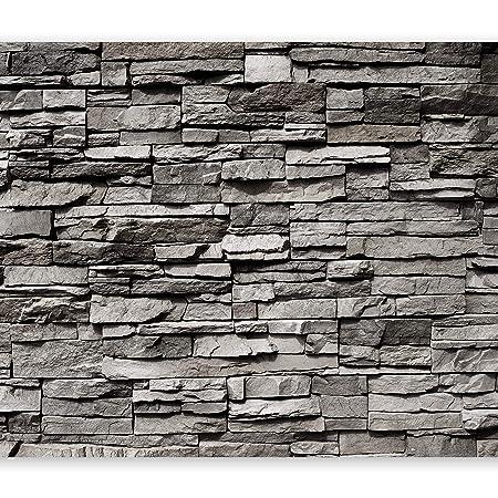 murando - Fototapete Steinwand 400x280 cm - Vlies Tapete - Moderne Wanddeko - Design Tapete - Wandtapete - Wand Dekoration -