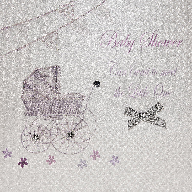 Pram /& Bunting Handmade Mum to be Card WHITE COTTON CARDS Congratulations