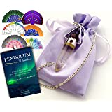 Crystal Amethyst Pendulum with Chakra & Life Charts - Dowsing & Divination - Includes 6 Full-Color Charts & Ebook Download