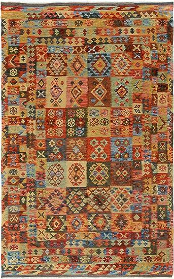 Arshs Fine Rugs Hand Woven Kilim Arya Murray Gray Blue Wool Rug 6 7 X 10 3 Furniture Decor