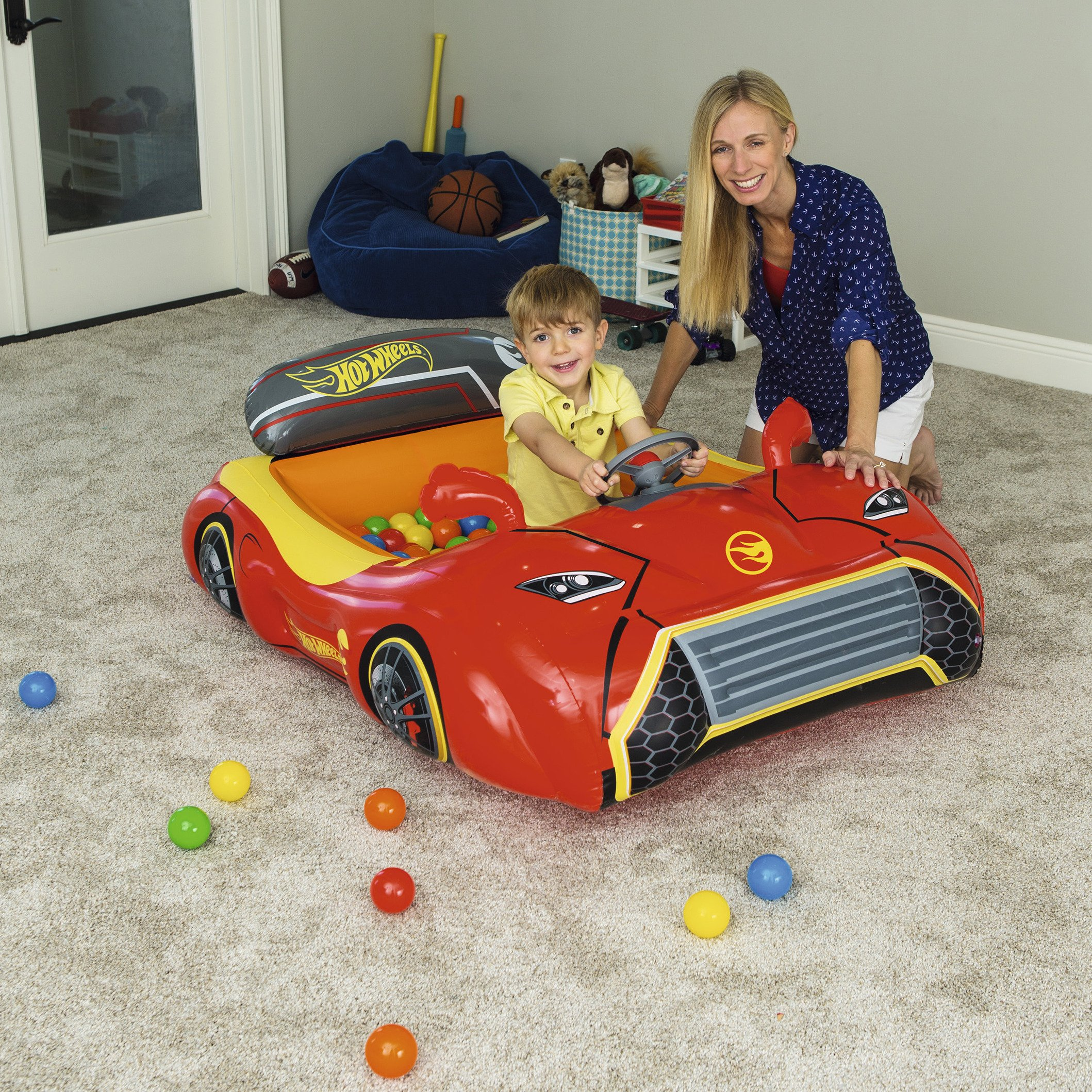 Bestway Hot Wheels Children's Inflatable Car Ball Pit, Includes 25 Balls by Bestway (Image #11)