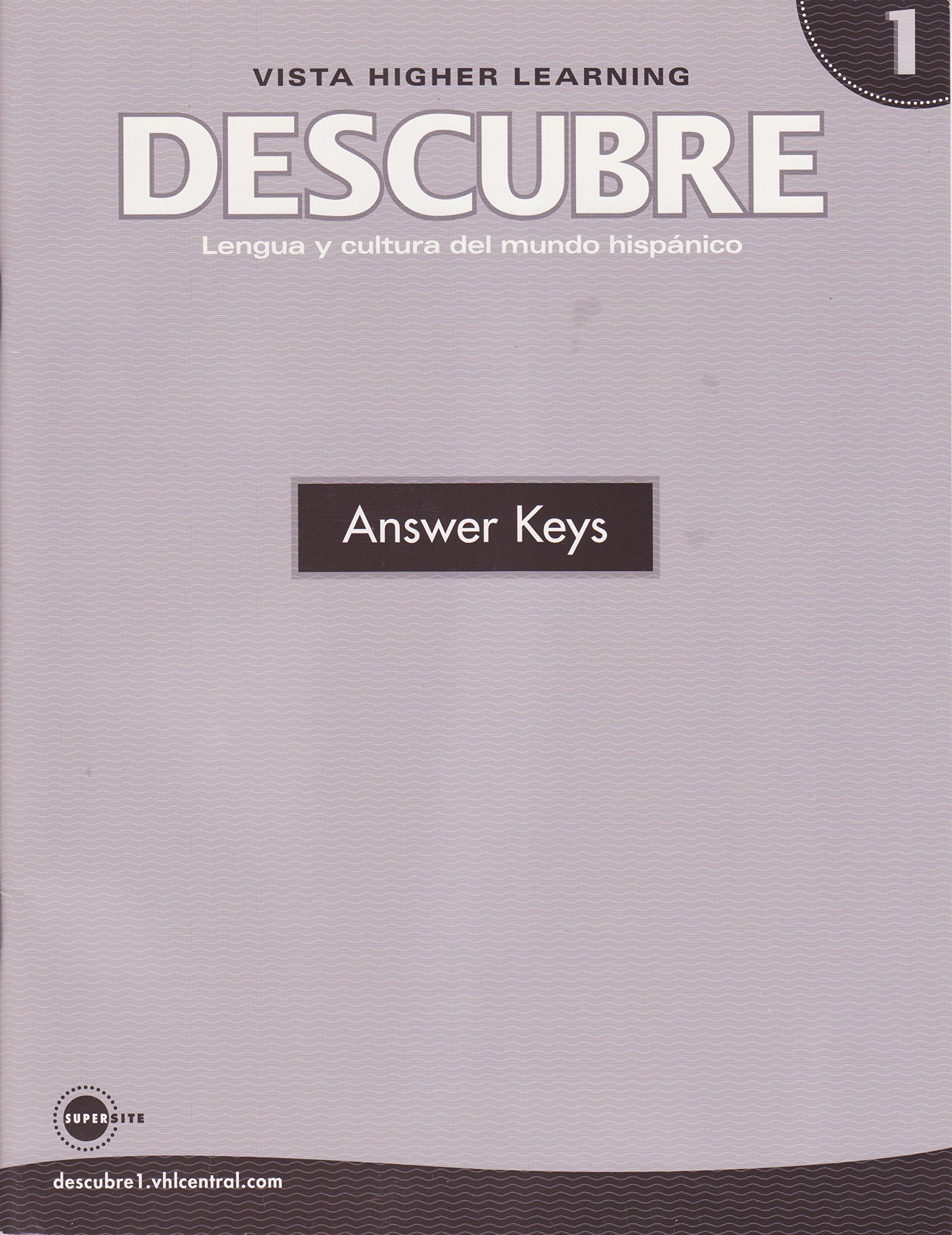 Descubre nivel 1 answer keys lengua y cultura del mundo hispano descubre nivel 1 answer keys lengua y cultura del mundo hispano blanco and donley 9781600072628 amazon books fandeluxe Gallery