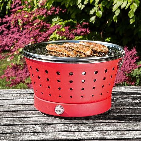Amazon.com: Bruzzzler Grillerette Classic - rauchfreier Holzkohlegrill inkl. Tragetasche: Garden & Outdoor