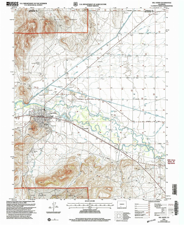 Amazon com : Del Norte CO topo map, 1:24000 Scale, 7 5 X 7 5