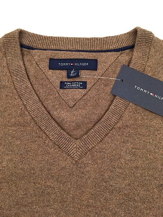 ccf13a5a29d6 Tommy Hilfiger Mens Pima Cotton Cashmere Sweater at Amazon Men s Clothing  store