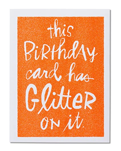 Amazon American Greetings Funny Glitter Birthday Card With