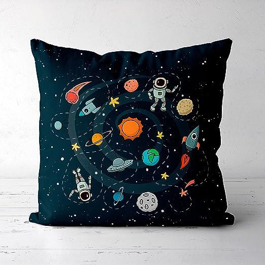 Wi33bbon Space Pillow Throw Funda de Almohada Galaxy Funda ...