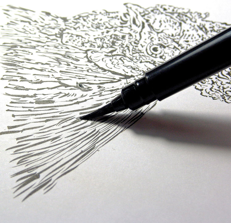Pentel Arts incluye 2 recambios de tinta negra Bol/ígrafo de bolsillo GFKP3BPA