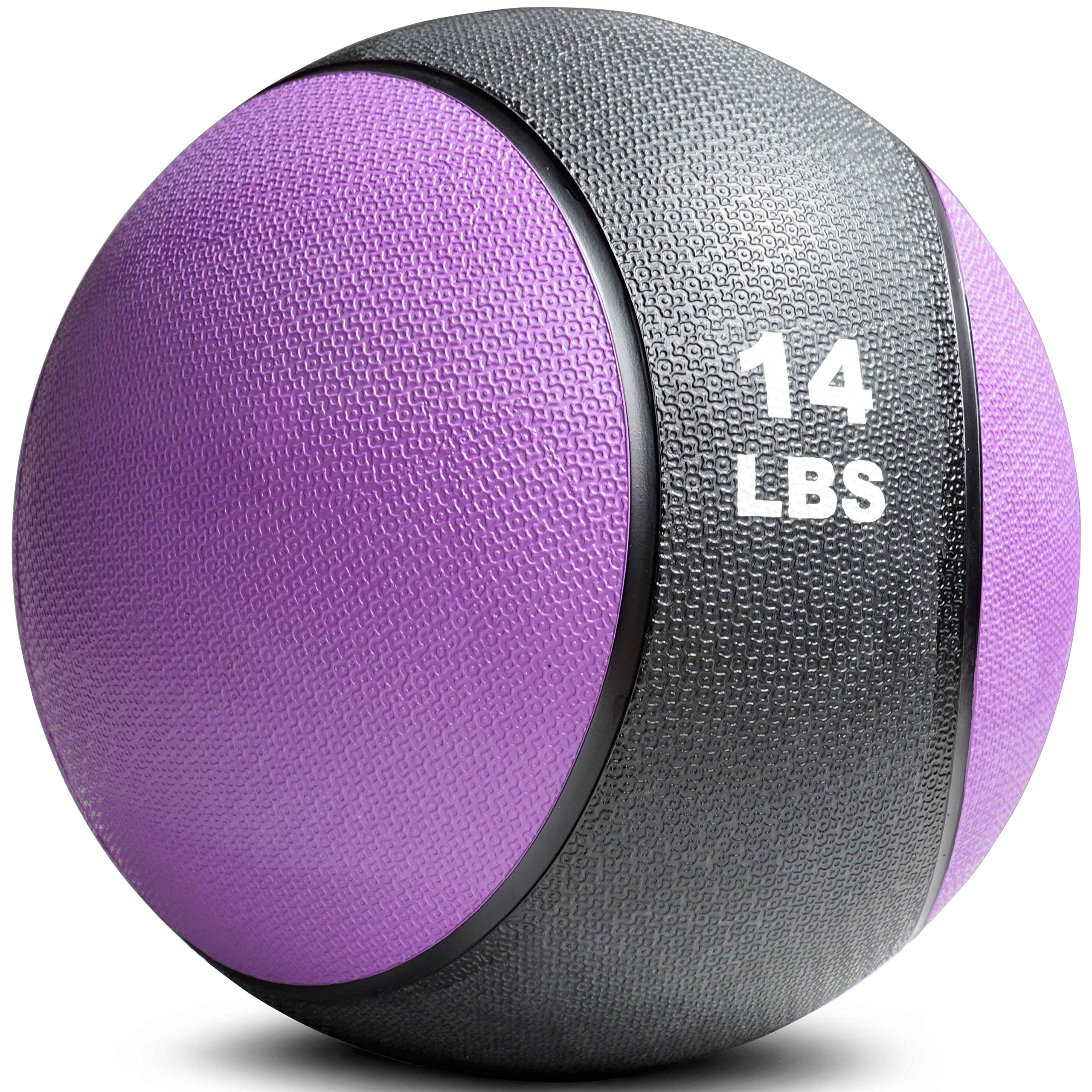 Titan Fitness Weighted Medicine Ball 14lb Rubber Muscle Driver Sport Therapy WOD