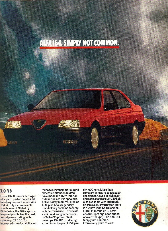 Alfa Romeo 164 >> Amazon Com Vintage Magazine Print Ad 1989 Alfa Romeo 164