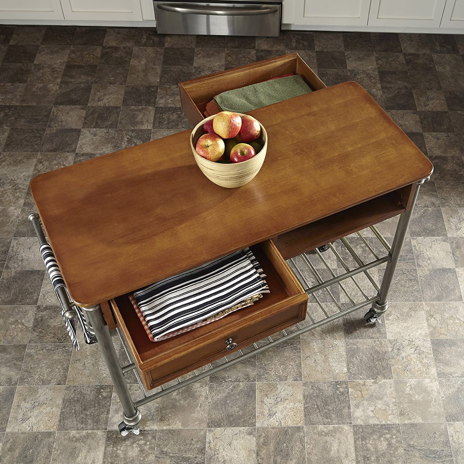Amazon Home Styles Orleans Kitchen Cart Bar & Serving Carts