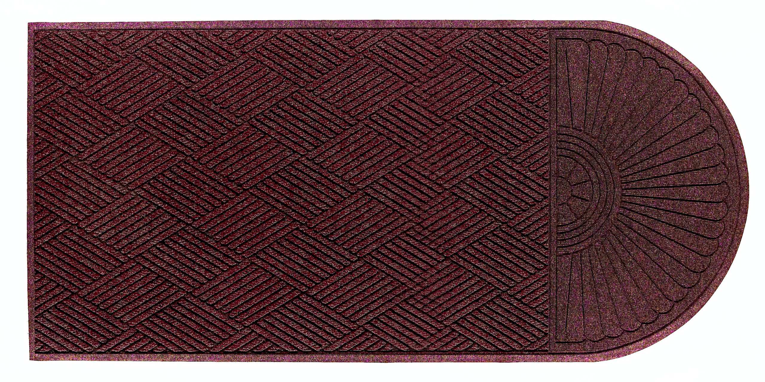 Andersen 22248 Waterhog Eco Grand Premier PET Polyester Fiber Single End Entrance Indoor/Outdoor Floor Mat, SBR Rubber Backing, 7' Length x 6' Width, 3/8'' Thick, Maroon