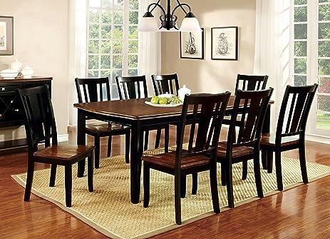Amazon.com: Furniture of America Macchio 9-Piece Transitional ...