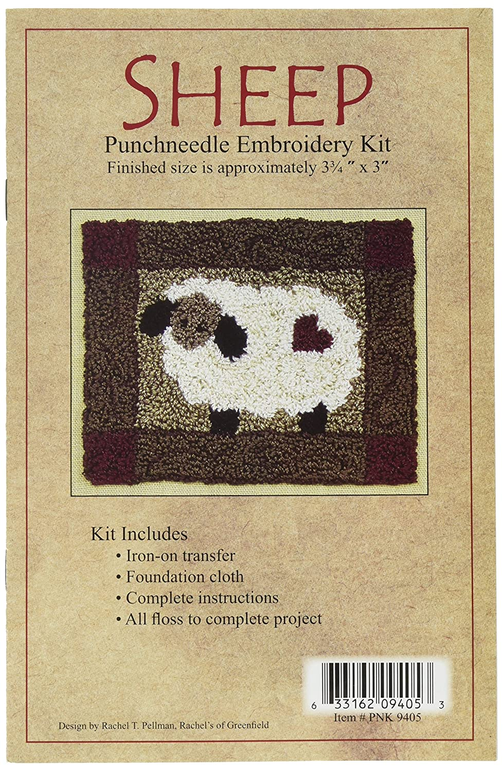 Rachel's Of Greenfield Sheep Punch Needle Kit, 3-3/4 by 4-Inch Rachel' s Of Greenfield PNK9405