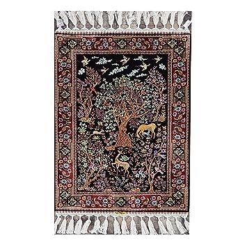 Amazon Com Yilong 2 X3 Handmade Silk Rug Oriental Persian Tapestry