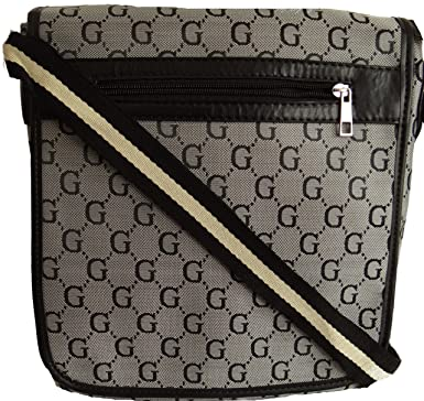 7722d3f96af1 Gossip Girl - Designer Inspired Unisex Man Bag Satchel Cross Body Messenger  Record Bag (Silver