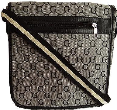 eadf799f913 Gossip Girl - Designer Inspired Unisex Man Bag Satchel Cross Body Messenger  Record Bag (Silver