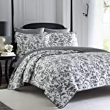 Laura Ashley Home Amberley Collection Quilt Set 100% Cotton, Breathable & Lightweight, Reversible Bedding, Pre-Washed for Add