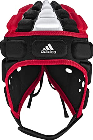 30b4c547d26c5 adidas Rugby Head Guard (Black, Radiant Red, White, Large): Amazon ...