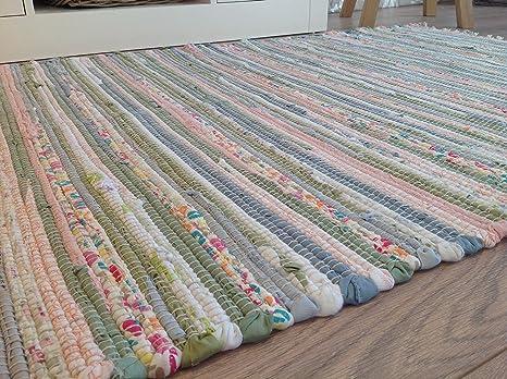 Tappeti In Tessuto Riciclato : Tappeto pastello 120 cm x 180 cm indiano pale light cotone riciclato