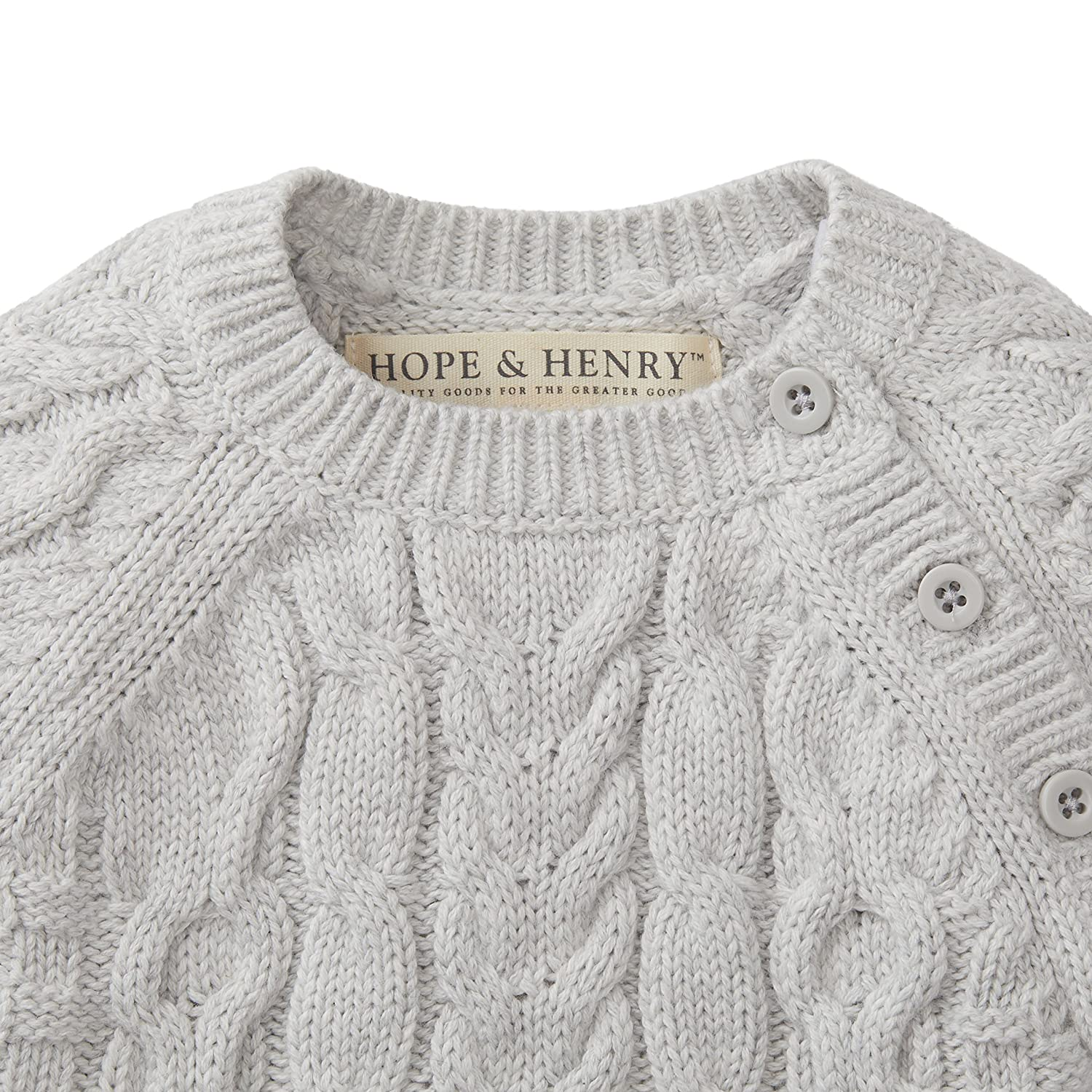 08174370d03c9 Amazon.com  Hope   Henry Layette Cable Knit Sweater Romper  Clothing