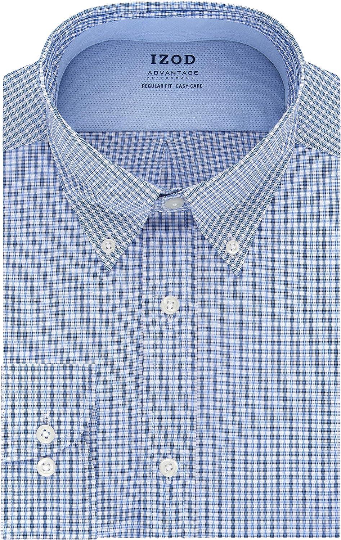 IZOD Men's Dress Shirt Regular Fit Stretch Cool FX Cooling Collar Check