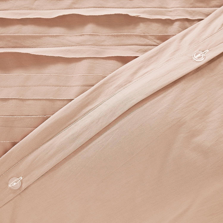 Rivet Raw-Edge Cotton Duvet Cover Set White ELLBG 18033BEDDKNGWHI King Soft and Easy Care