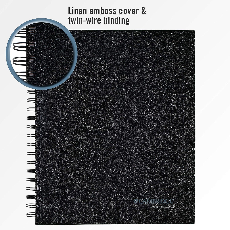 Black Renewed Wirebound Hard Cover 06100 8-1//2 X 11 Cambridge Limited Business Notebook