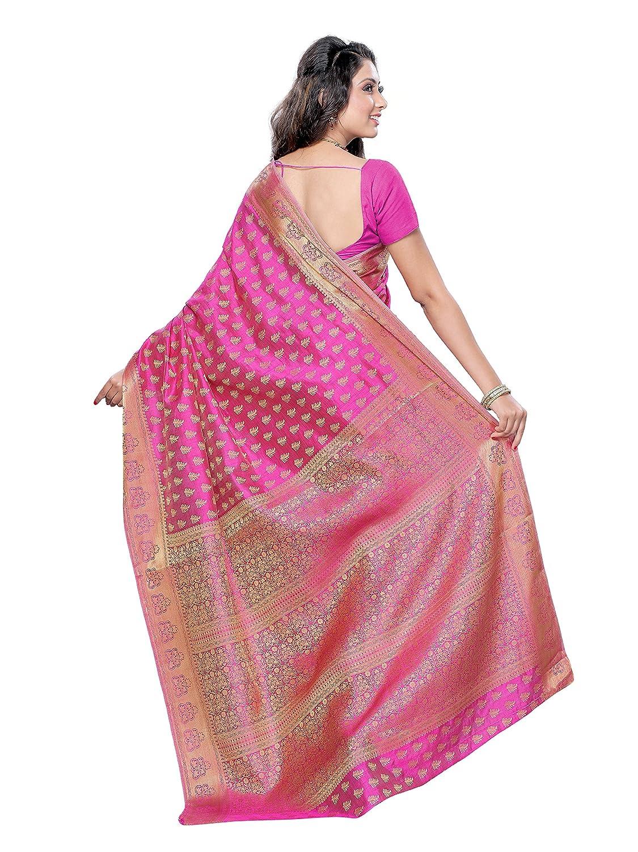 Pink Color Women's Tassar Silk Saree