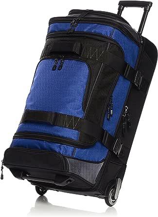 AmazonBasics Ripstop Wheeled Duffel, Blue