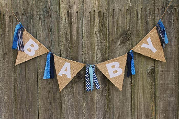 Baby Shower Banner, Burlap Baby Banner, Custom Baby Banner For Baby Shower  Or Welcome