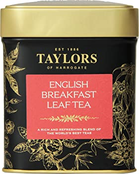 6-Pk Taylors of Harrogate English 4.41oz Tin Breakfast Leaf