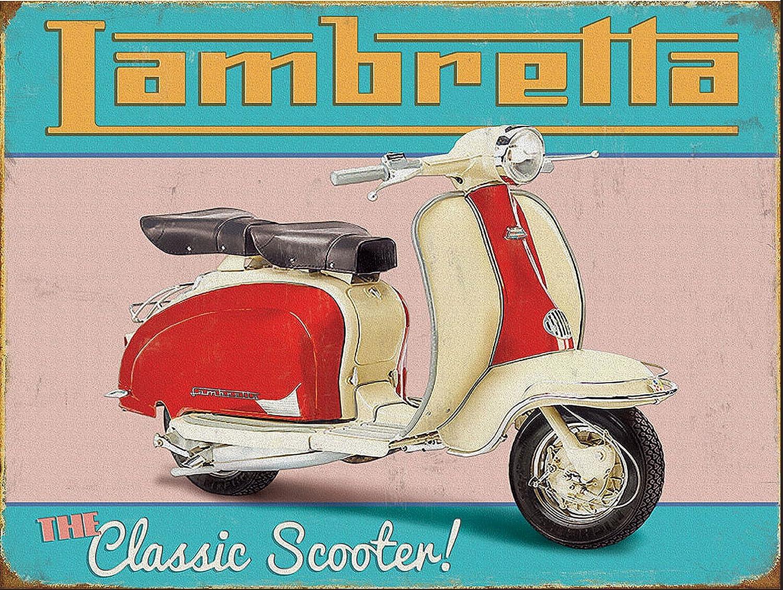 bar man cave. pub lambretta scooter Retro metal Aluminium Sign vintage