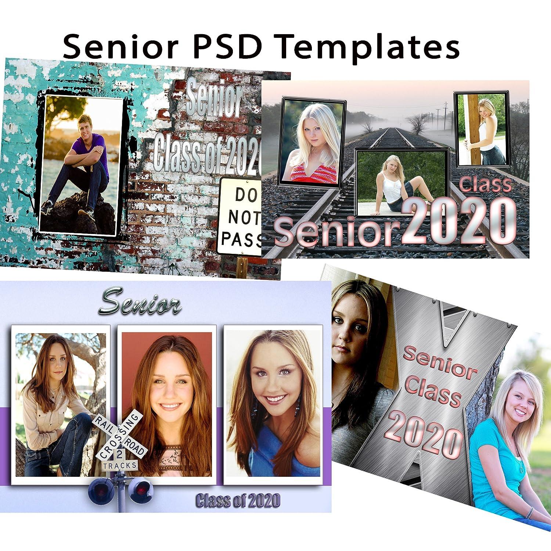 Amazon.com: Photoshop Templates PSD for Senior & Graduation