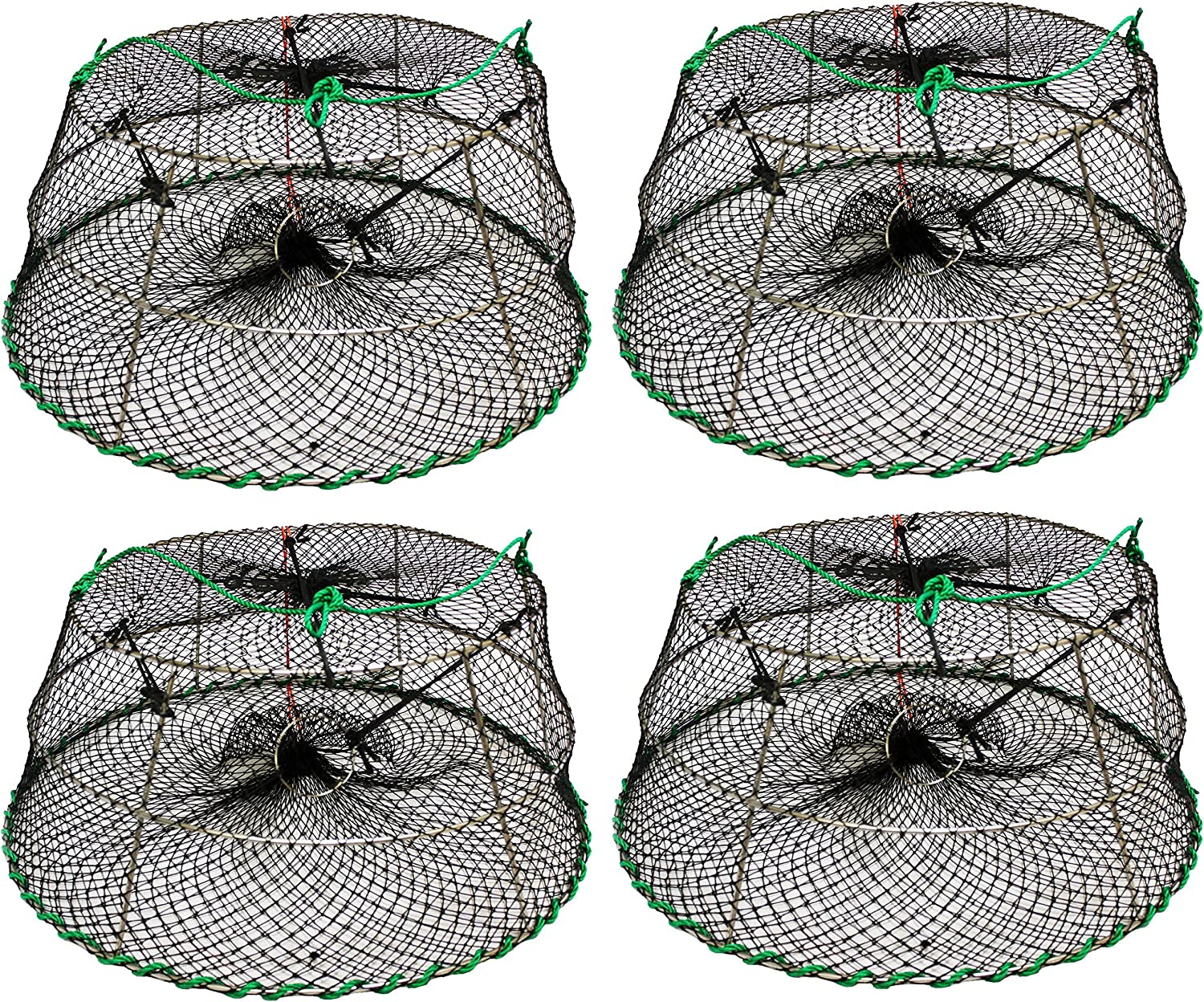 Stretched Mesh Size: 1-3//4 30 X 20X 12 4 Pack of KUFA SPORTS Tower Style Stainless Steel Prawn Trap Size CT77x4