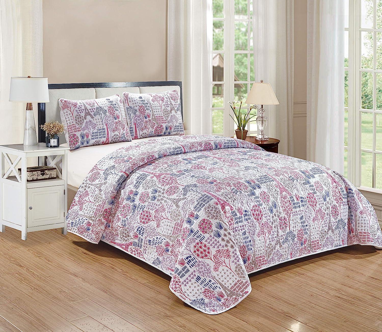 Full Kids Zone Bedspread Set for Girls//Teens Multi-Color Owls Aqua Blue Pink Purple Singing Owl Music Notes Hearts Flower Leaves New # Owl
