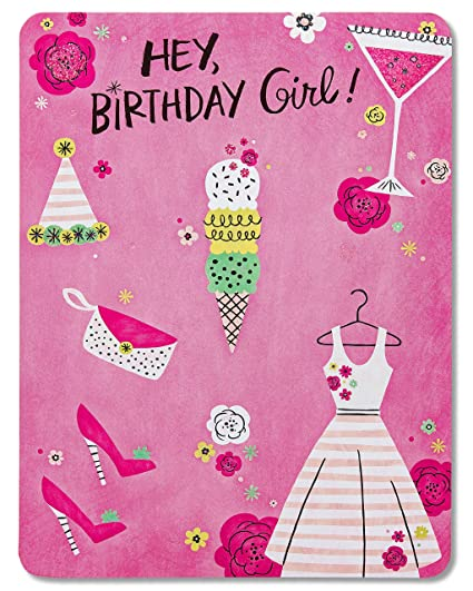 Amazon American Greetings Fun Birthday Card For Girl With