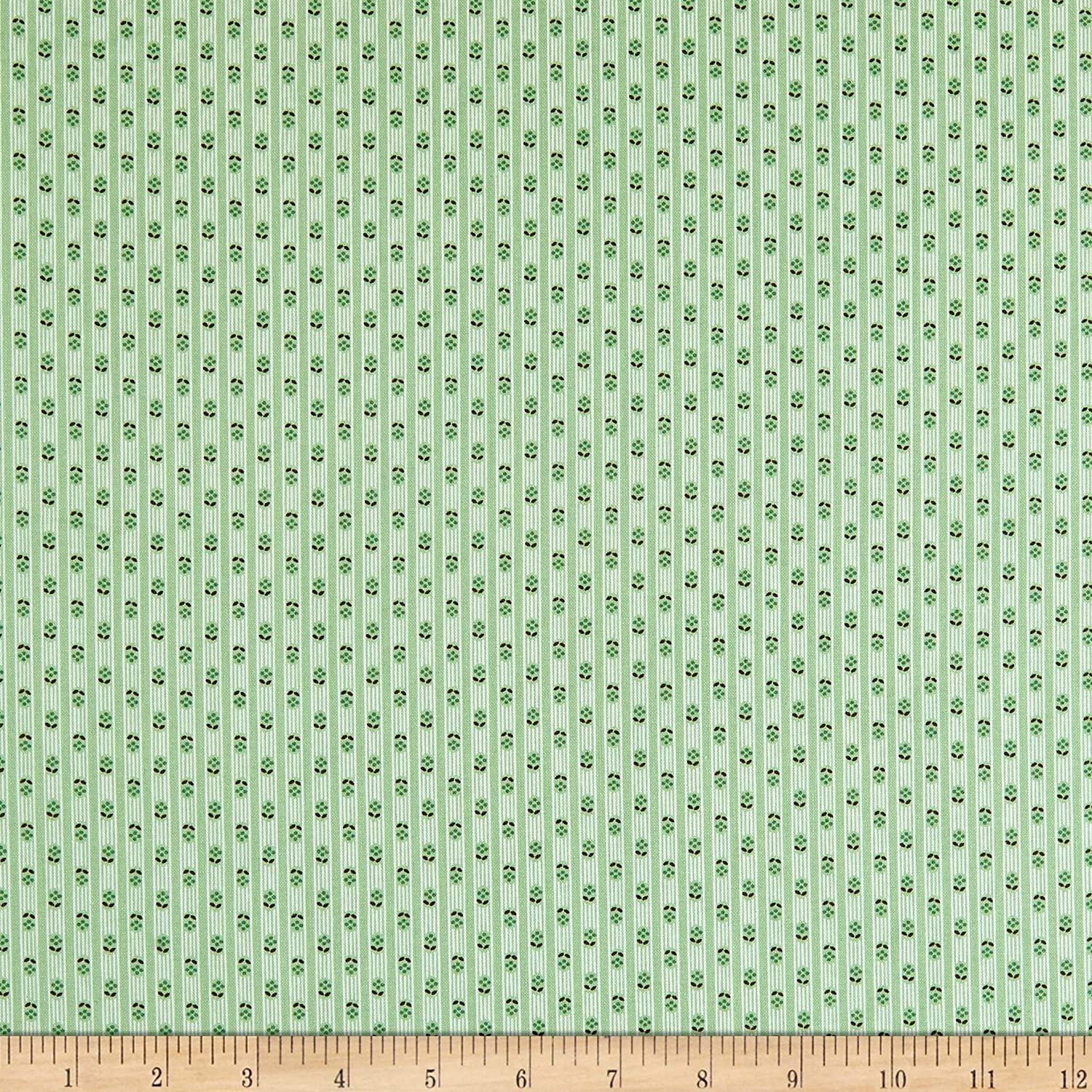 Riley Blake Designs Prim Stripe Granny Apple Green Quilt Fabric By The Yard