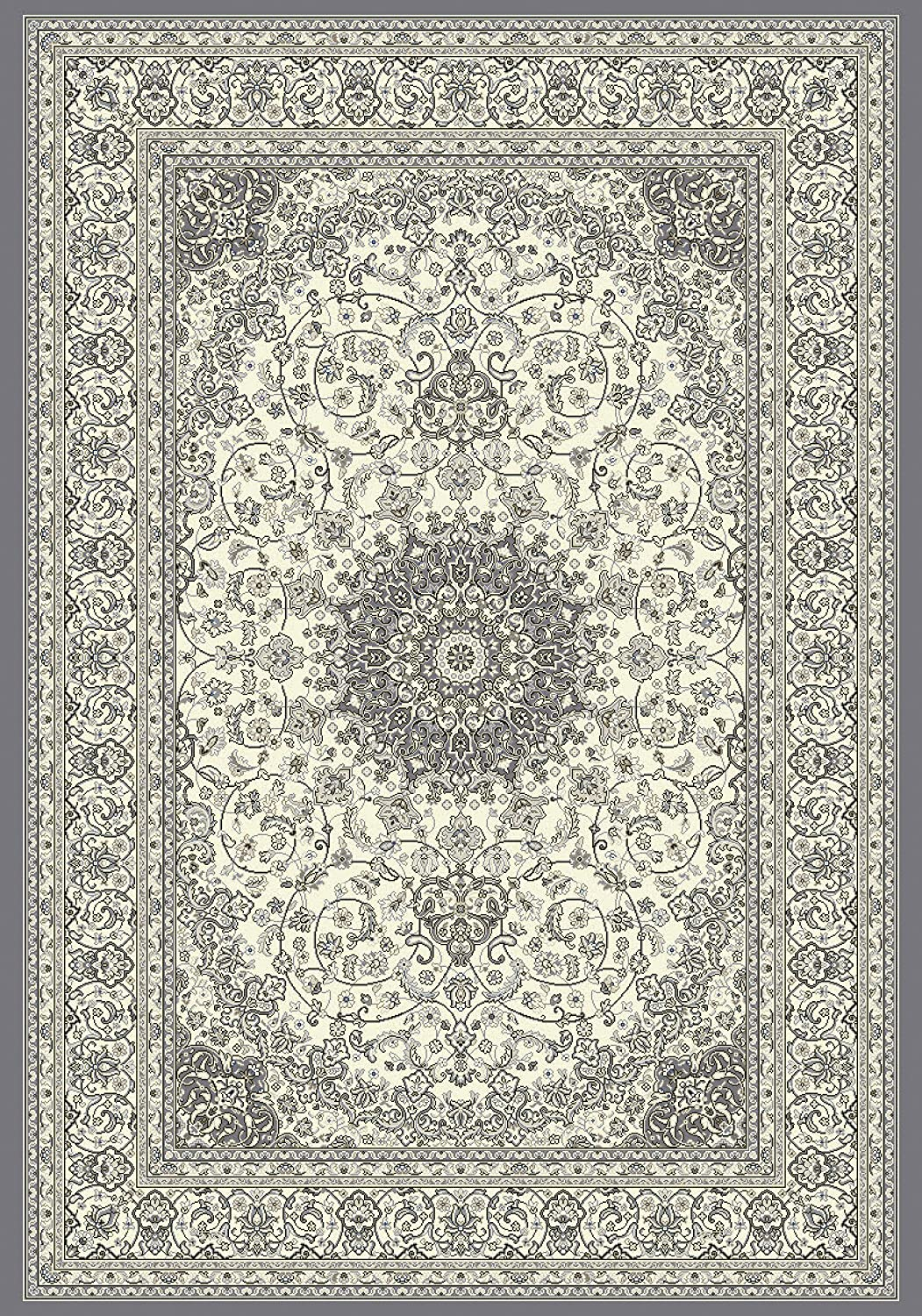 Dynamic Rugs AN28571196656 Ancient Garden Collection Runner Rug 22 x 77 Cream//Grey