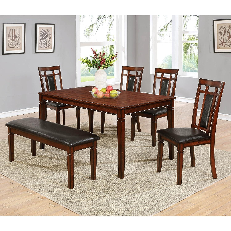 Amazon Best Master Furniture MH03 Carmine Dining 6 Pcs Set