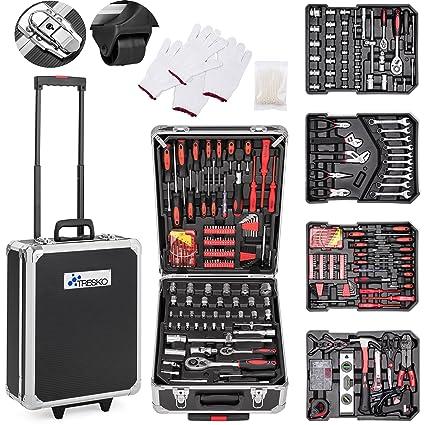 TRESKO® Maletín de Herramientas 949 Piezas | Portaherramientas Portátil | Set/Caja con herramientas