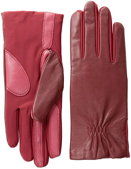 Vintage Style Gloves- Long, Wrist, Evening, Day, Leather, Lace Isotoner Womens Stretch Leather Touchscreen Texting Cold Weather Gloves with Warm Fleece Lining $58.00 AT vintagedancer.com