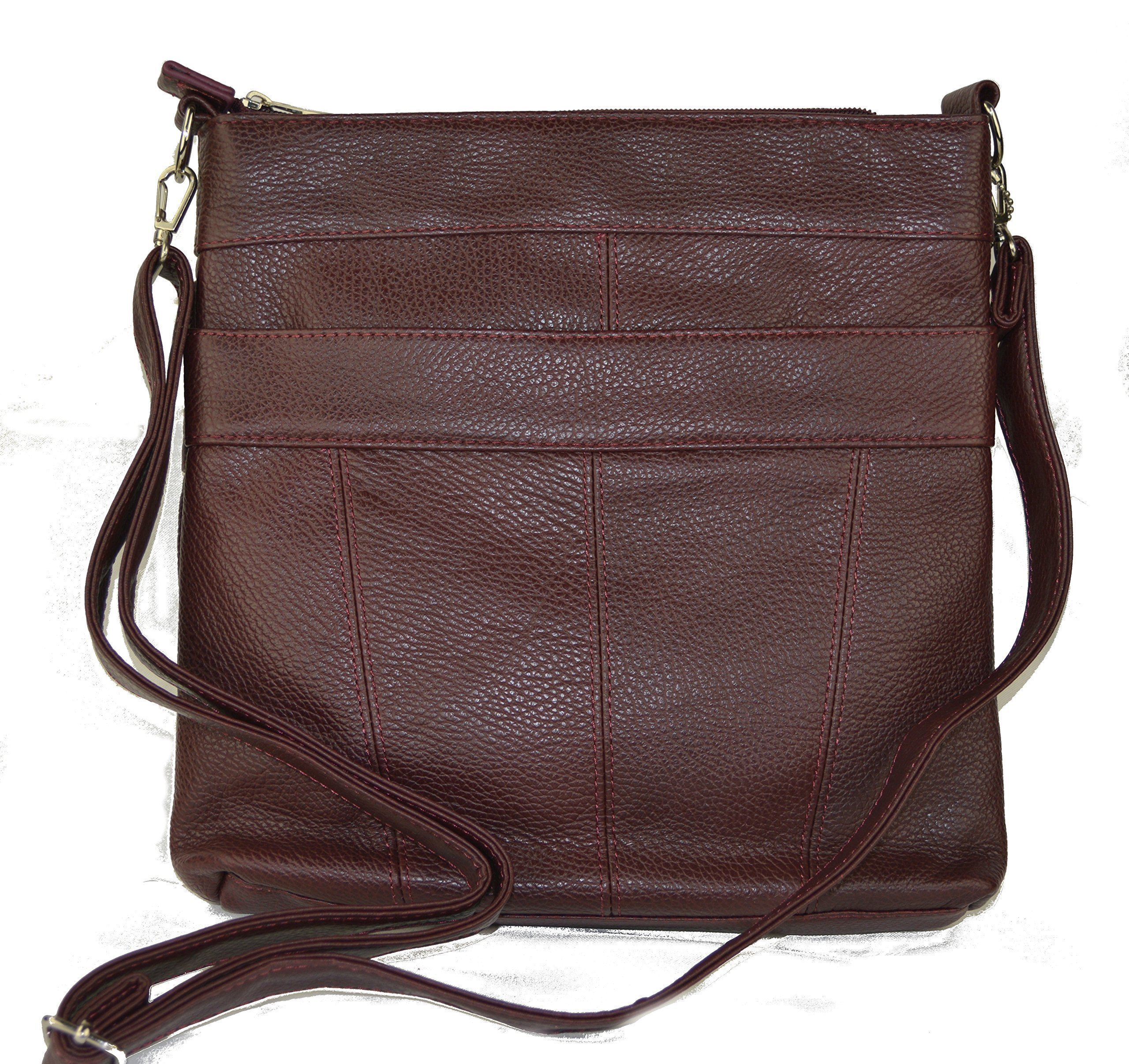 The ''Connie'' by Camille Conceals - Wine Leather Conceal Carry Purse - Ambidextrous Holster