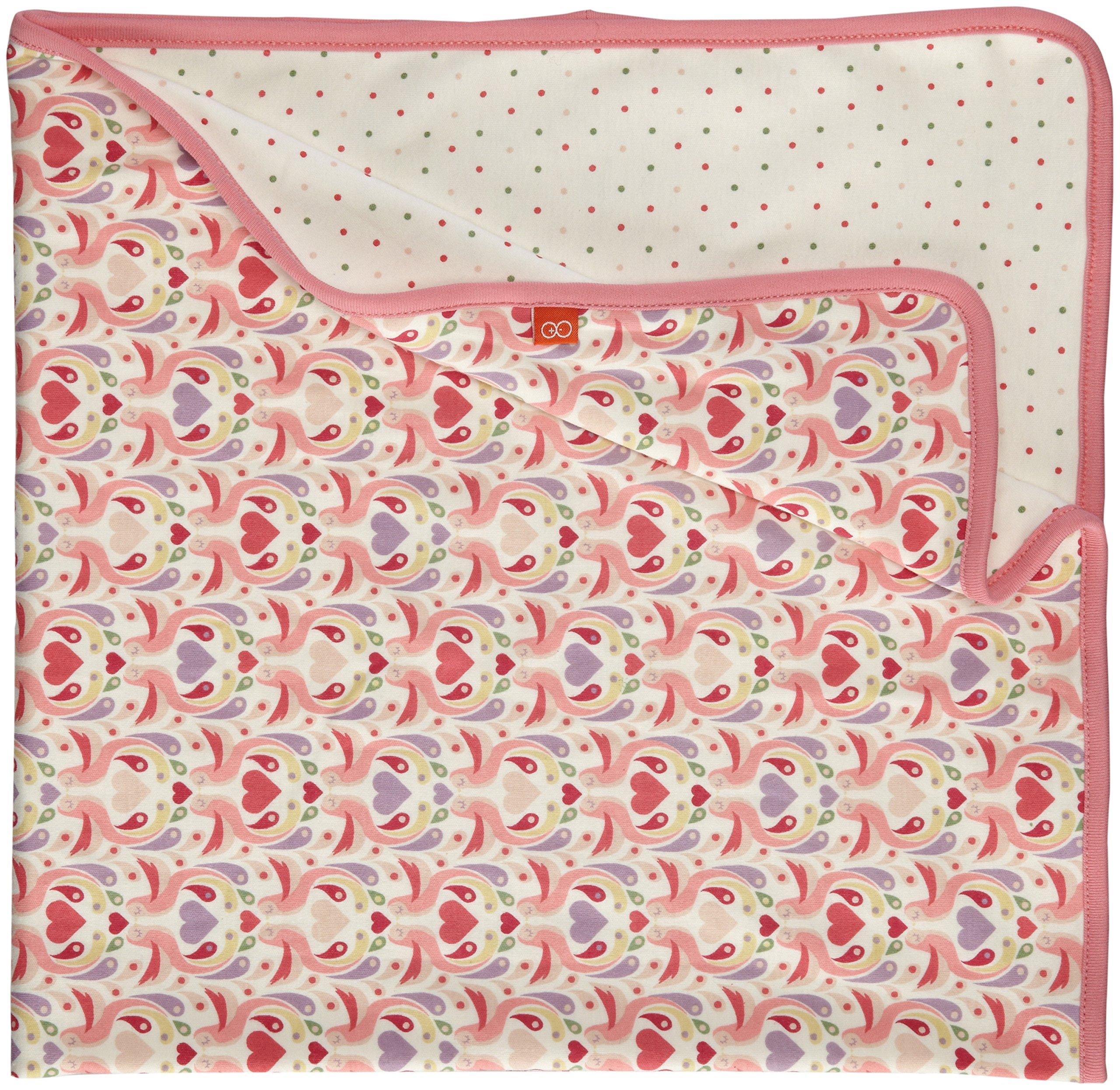 Magnificent Baby Baby-Girls Newborn Love Birds 2-Ply Reversible Blanket, Love Birds, One Size